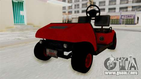 GTA 5 Gambler Caddy Golf Cart para GTA San Andreas