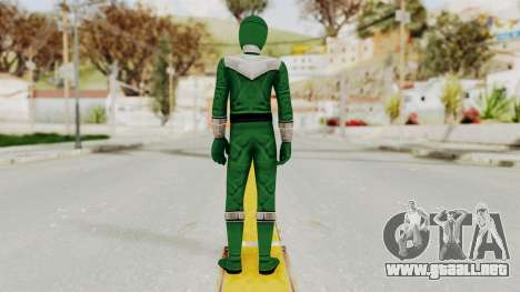 Power Rangers Time Force - Green para GTA San Andreas tercera pantalla