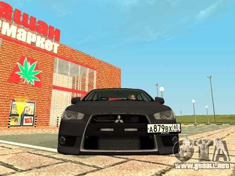 Mitsubishi Lancer Evolution X GVR Tuning para GTA San Andreas left
