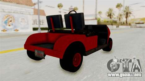 GTA 5 Gambler Caddy Golf Cart para GTA San Andreas left