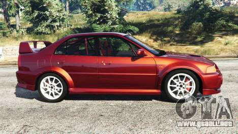 GTA 5 Mitsubishi Lancer GSR Evolution VI 1999 vista lateral izquierda