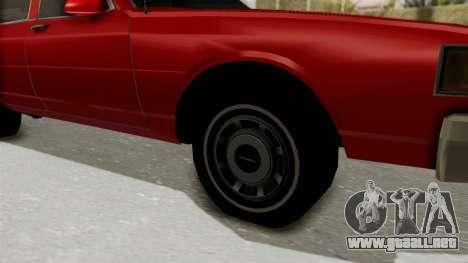 Chevrolet Caprice Classic 1986 v2.0 para GTA San Andreas vista hacia atrás