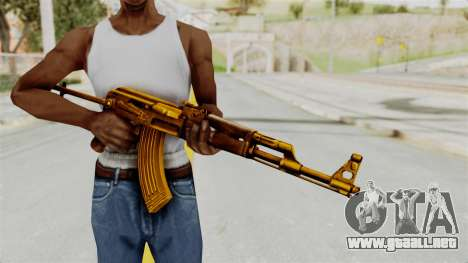 AK-47S Gold para GTA San Andreas tercera pantalla