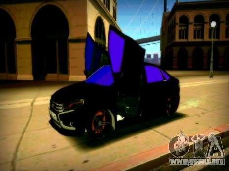 Lada Vesta Lambo para GTA San Andreas vista posterior izquierda