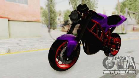 Ducati 1098 Nakedbike para la visión correcta GTA San Andreas