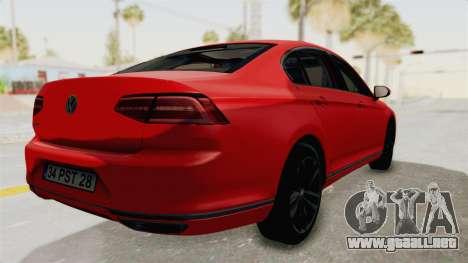 Volkswagen Passat B8 2016 Highline HQLM para GTA San Andreas left