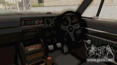 Nissan Skyline KPGC10 1971 para visión interna GTA San Andreas