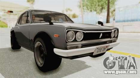 Nissan Skyline KPGC10 1971 para la visión correcta GTA San Andreas