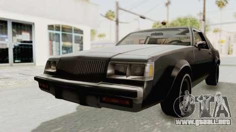 Buick Regal 1986 para la visión correcta GTA San Andreas