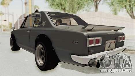 Nissan Skyline KPGC10 1971 para GTA San Andreas left