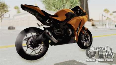 Honda CBR1000RR High Modif para la visión correcta GTA San Andreas
