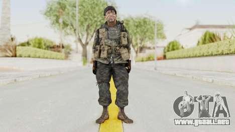 COD BO USA Soldier Ubase para GTA San Andreas segunda pantalla