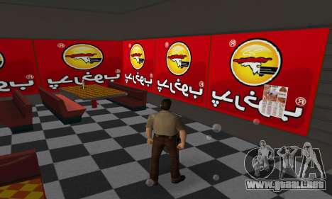 Pizza Shop Iranian V2 para GTA Vice City sucesivamente de pantalla