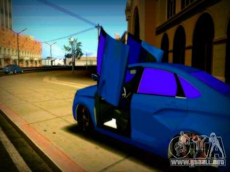 Lada Vesta Lambo para GTA San Andreas vista hacia atrás