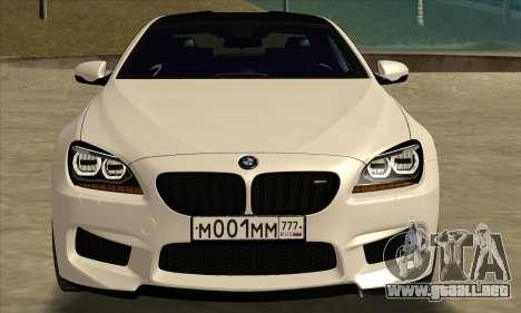 BMW M6 F13 Coupe para GTA San Andreas vista posterior izquierda