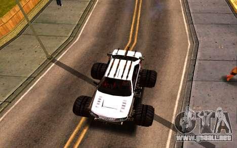 Peugeot Persia Full Sport Monster para GTA San Andreas vista hacia atrás