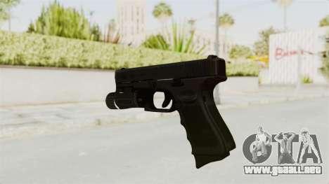 Glock 19 Gen4 Flashlight para GTA San Andreas tercera pantalla