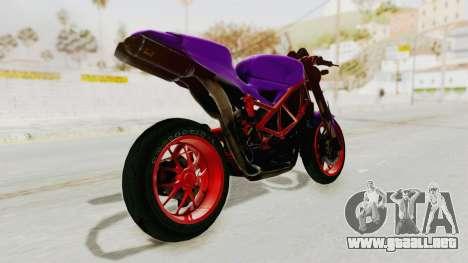 Ducati 1098 Nakedbike para GTA San Andreas left