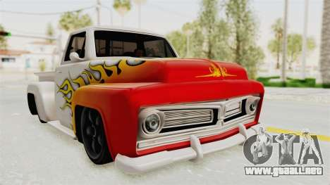 GTA 5 Slamvan Stock PJ1 para vista lateral GTA San Andreas