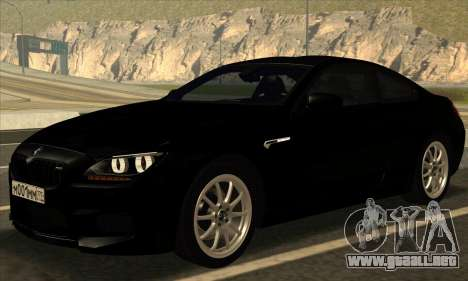 BMW M6 F13 Coupe para visión interna GTA San Andreas