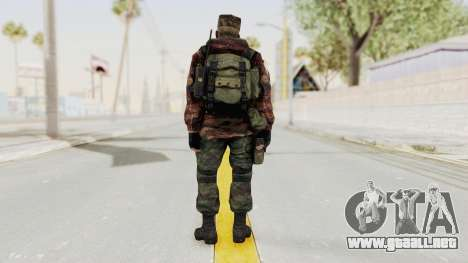 Battery Online Russian Soldier 10 v1 para GTA San Andreas tercera pantalla