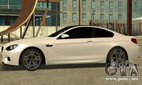 BMW M6 F13 Coupe para la visión correcta GTA San Andreas