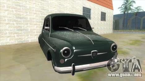 Fiat 600 para GTA San Andreas vista hacia atrás