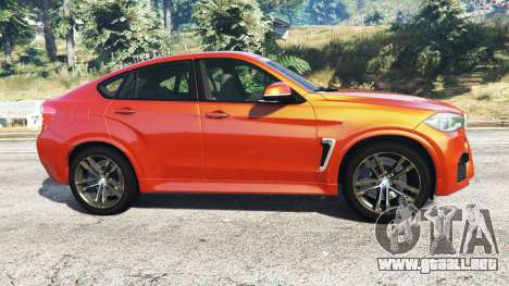 GTA 5 BMW X6 M (F16) v1.6 vista lateral izquierda