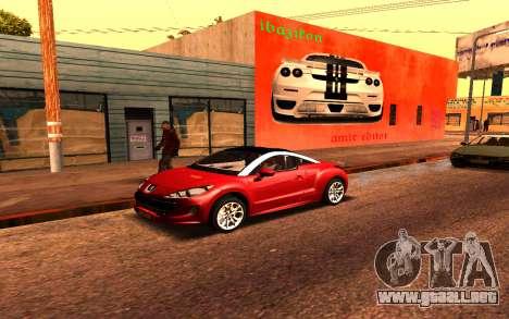 Ferrari Wall Graffiti para GTA San Andreas segunda pantalla
