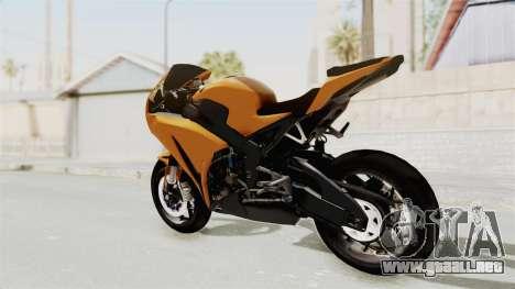 Honda CBR1000RR High Modif para GTA San Andreas left