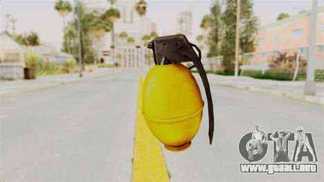 Grenade Gold para GTA San Andreas segunda pantalla