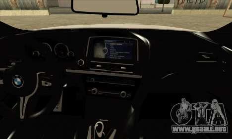 BMW M6 F13 Coupe para GTA San Andreas vista hacia atrás