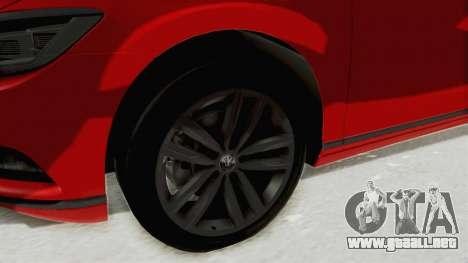 Volkswagen Passat B8 2016 Highline HQLM para GTA San Andreas vista hacia atrás