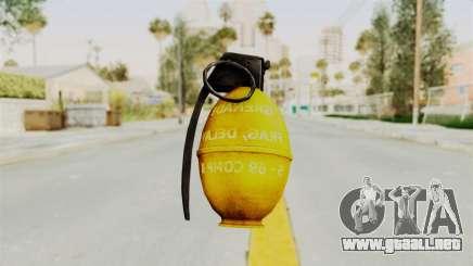 Grenade Gold para GTA San Andreas