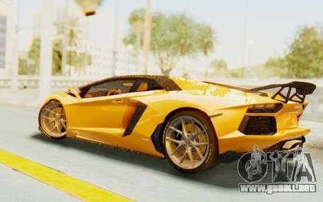 Lamborghini Aventador LP700-4 DMC para GTA San Andreas vista posterior izquierda