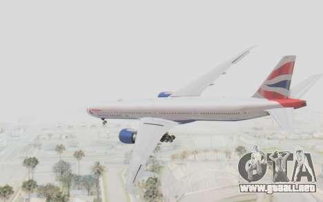 Boeing 777-300ER British Airways para GTA San Andreas left