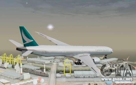 Boeing 777-300ER Cathay Pacific Airways v3 para la visión correcta GTA San Andreas