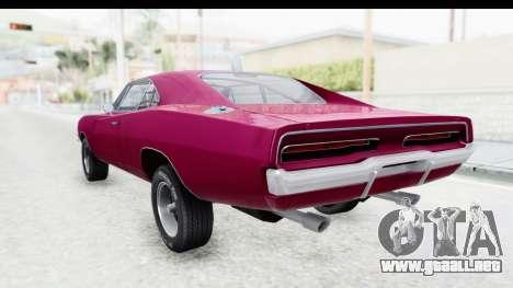 Dodge Charger 1969 Racing para GTA San Andreas left