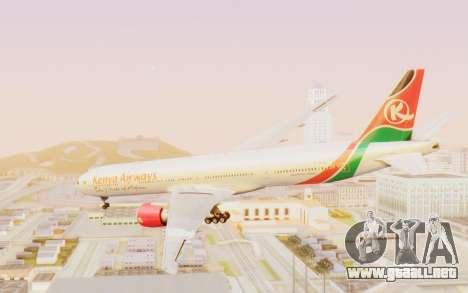 Boeing 777-300ER Kenya Airways para la visión correcta GTA San Andreas
