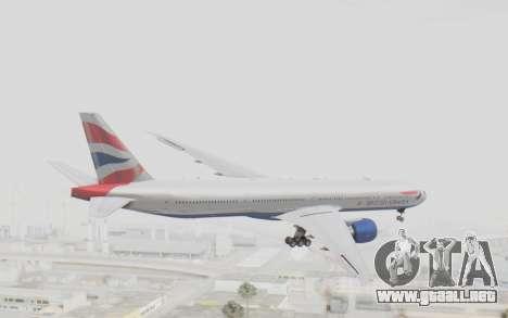 Boeing 777-300ER British Airways para la visión correcta GTA San Andreas