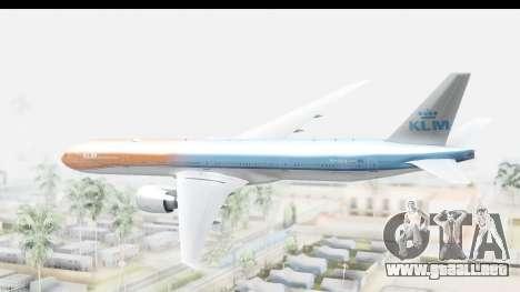 Boeing 777-300ER KLM Orange Pride para la visión correcta GTA San Andreas