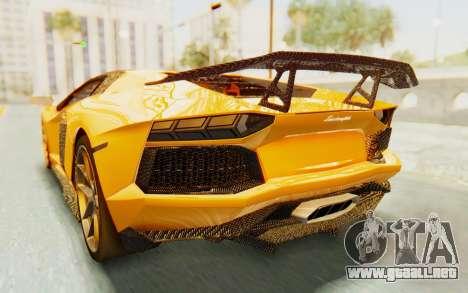 Lamborghini Aventador LP700-4 DMC para vista inferior GTA San Andreas