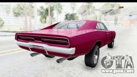 Dodge Charger 1969 Racing para la visión correcta GTA San Andreas