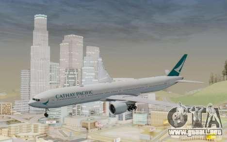 Boeing 777-300ER Cathay Pacific Airways v3 para GTA San Andreas