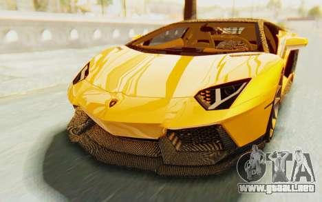 Lamborghini Aventador LP700-4 DMC para la vista superior GTA San Andreas