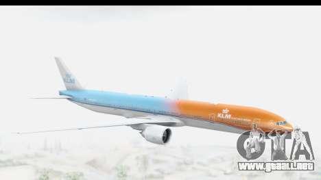 Boeing 777-300ER KLM Orange Pride para GTA San Andreas
