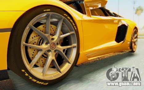 Lamborghini Aventador LP700-4 DMC para GTA San Andreas vista hacia atrás