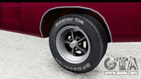 Dodge Charger 1969 Racing para GTA San Andreas vista hacia atrás