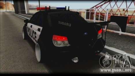 Subaru Impreza WRX STi Police Drift para GTA San Andreas left