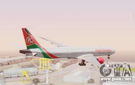 Boeing 777-300ER Kenya Airways para GTA San Andreas left